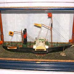 "Antique Diorama of the Tug ""Albion""--SOLD"