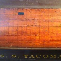 Half Hull USS Tacoma Plating Model