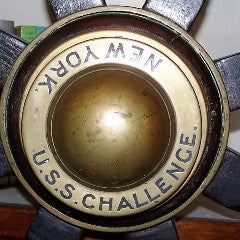 USS Challenge Helm Wheel--SOLD