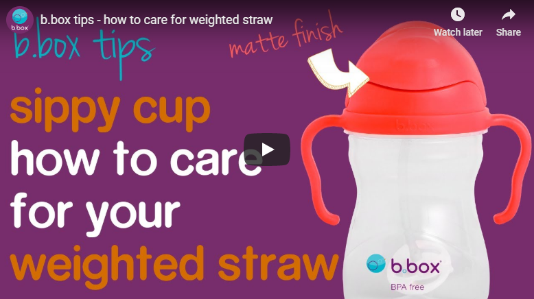 How to care for your weighted straw (matted lid) | B.Box Sippy Cup