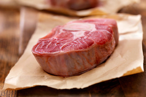 Organic sliced fillet of meat