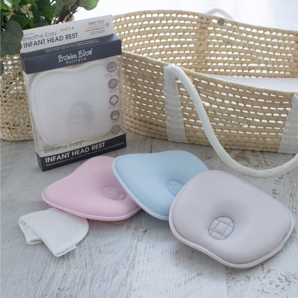 Breathe Easy® Infant Head Rest -Pink | Bubba Blue - Nurture Little Footprints