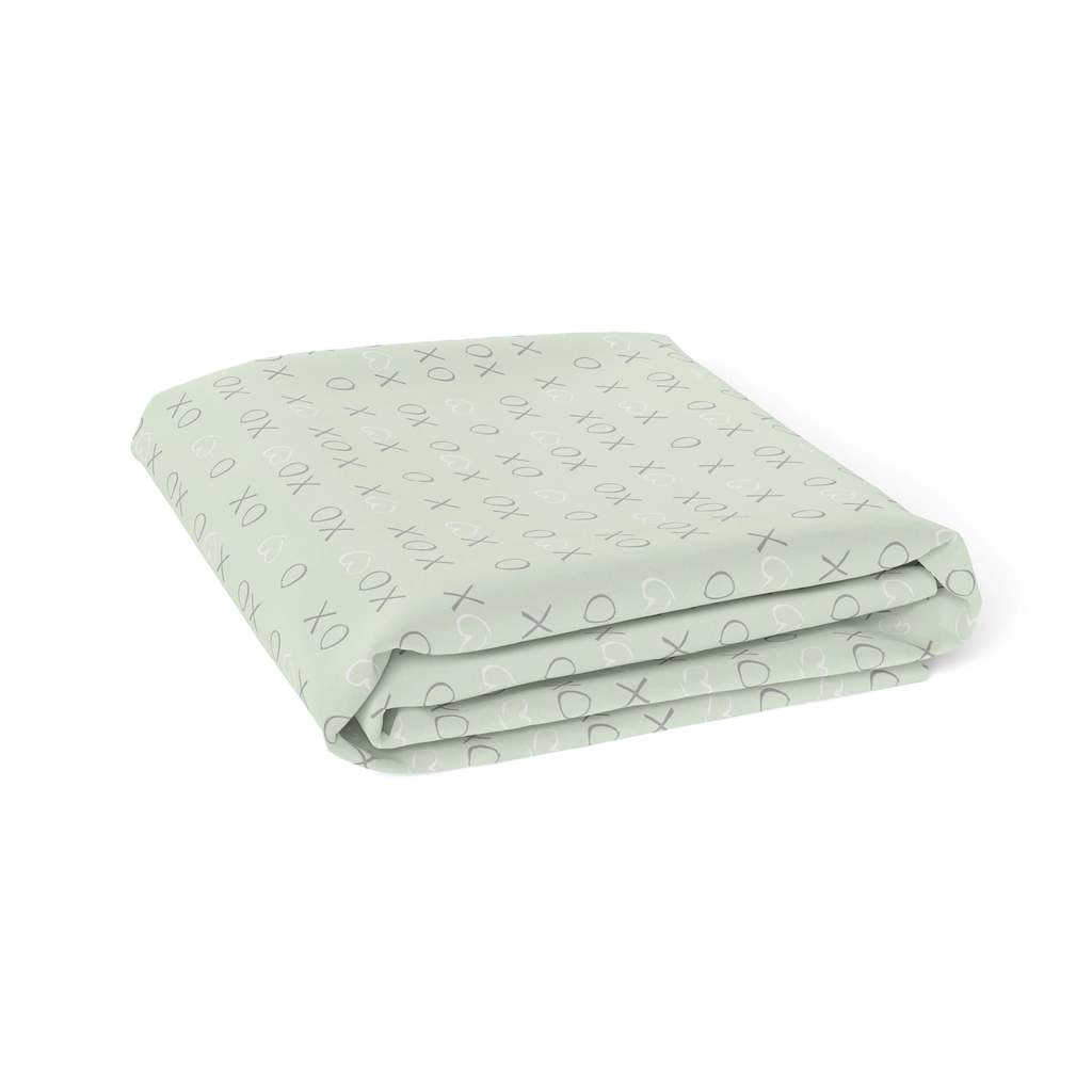 Mint Meadow Bamboo Jersey Bassinet Fitted Sheet | Bubba Blue - Little Bamboos