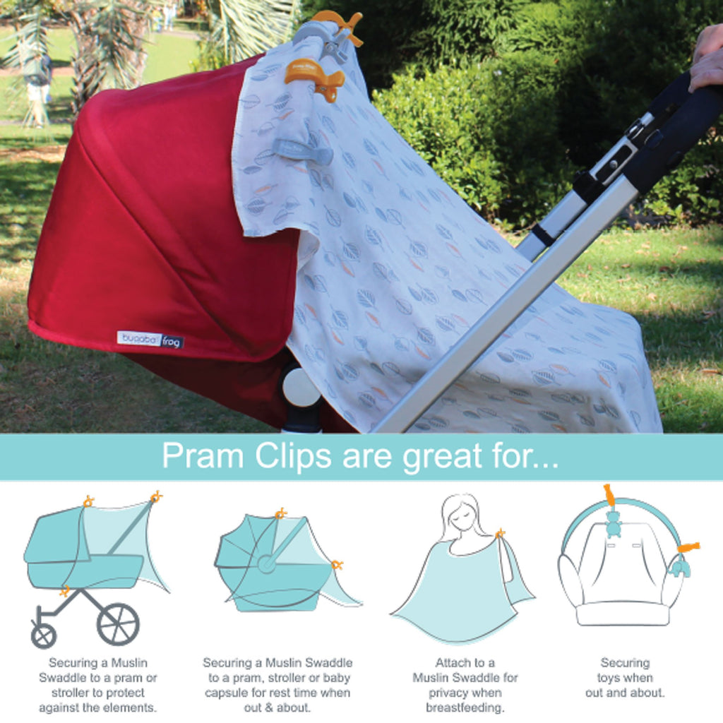 Bubba Blue | 4 Pack Pram Clips - Boy Pack