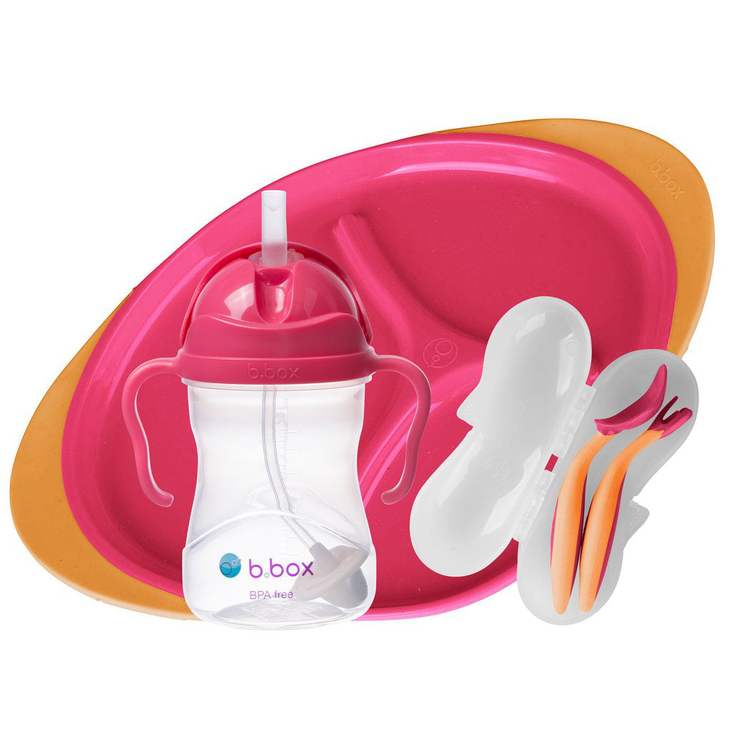 FEEDING SET - STRAWBERRY SHAKE | B.Box - Nurture Little Footprints