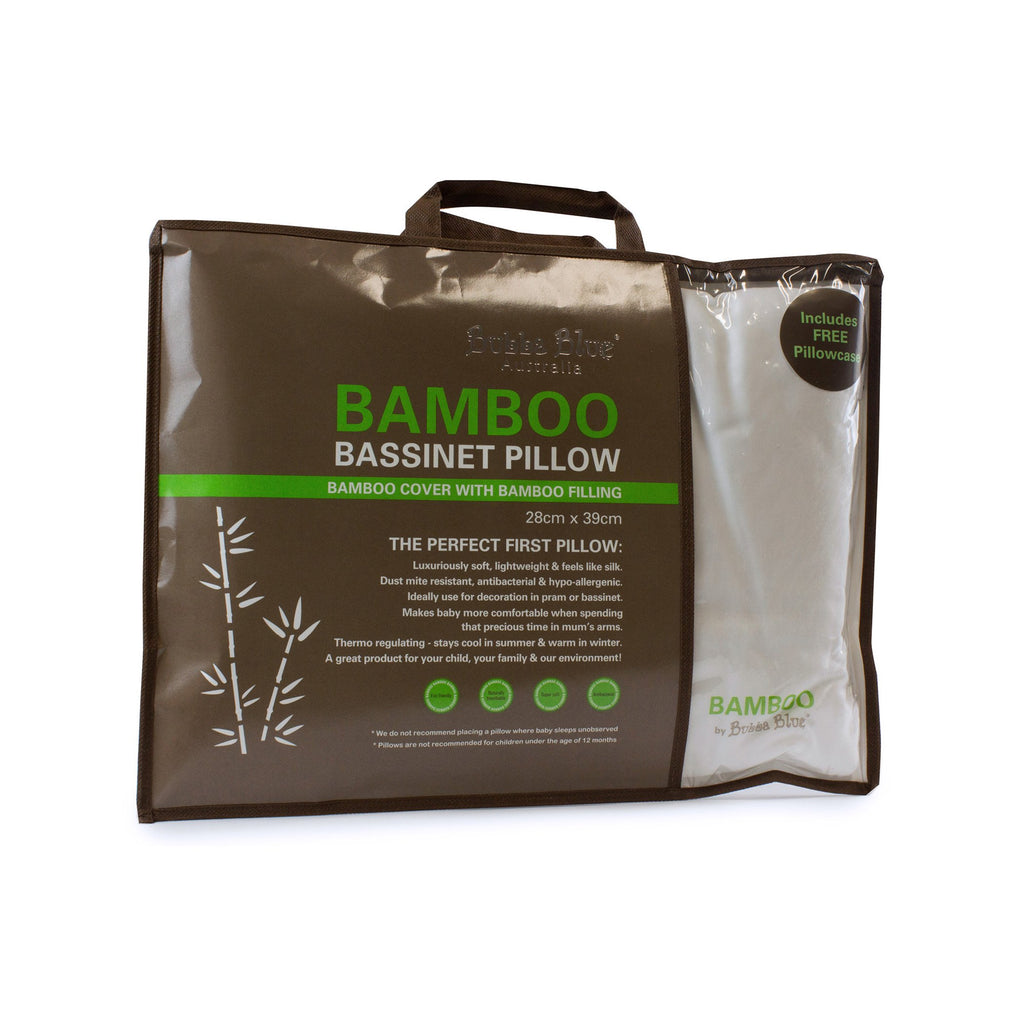 Bubba Blue Bamboo White Bassinet Pillow (includes pillowcase)