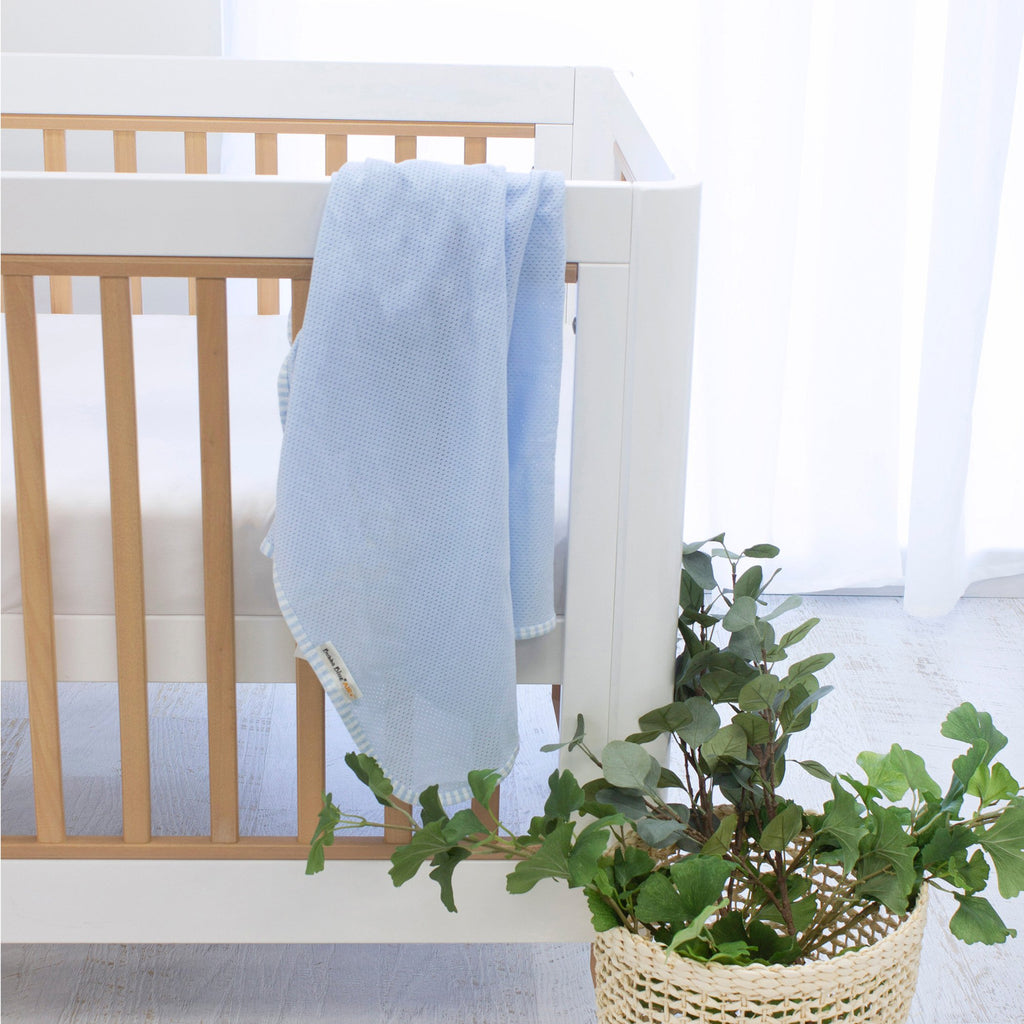 Bubba Blue Air+ Swaddle Wrap Blue | GOTS certified organic cotton - Little Bamboos