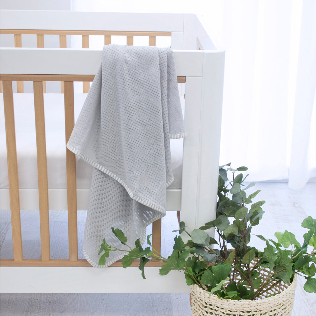 Bubba Blue Air+ Swaddle Wrap Grey | GOTS certified organic cotton - Little Bamboos
