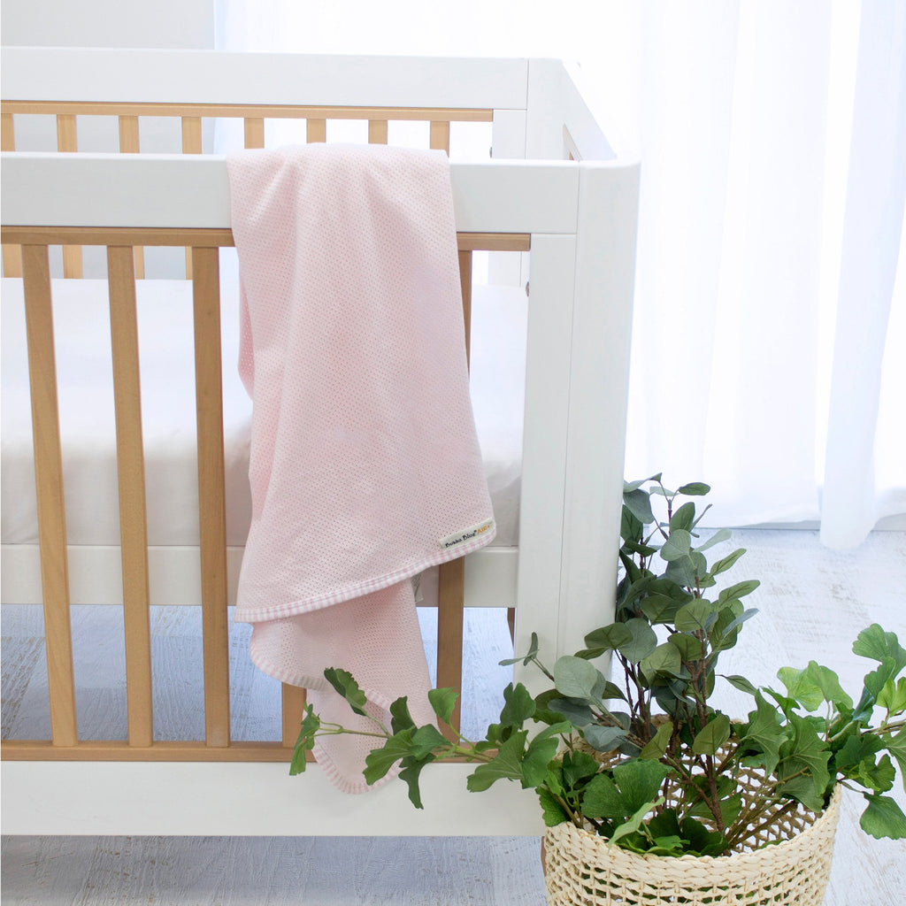 Air+ Swaddle Wrap Pink | GOTS certified organic cotton | Bubba Blue - Nurture Little Footprints