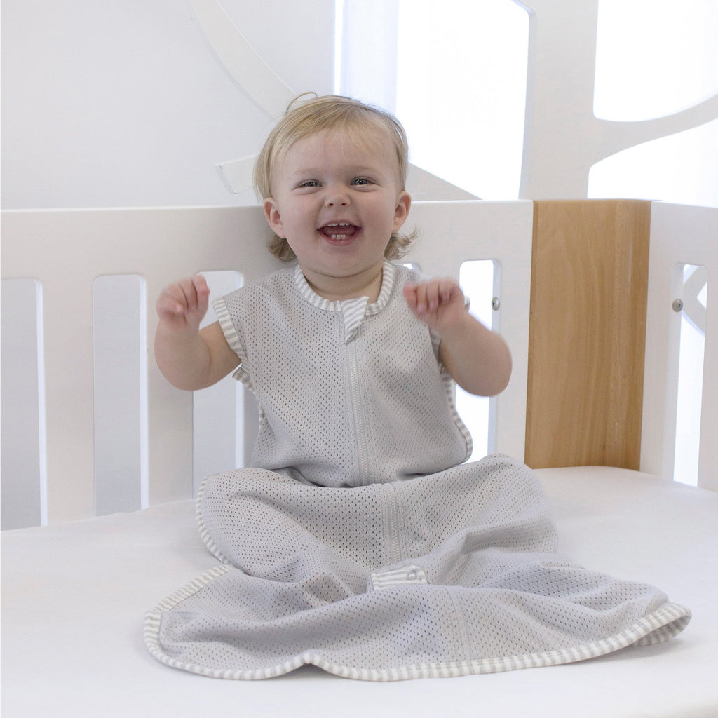 Air+ Sleep Bag Grey | GOTS certified organic cotton | Bubba Blue - Nurture Little Footprints