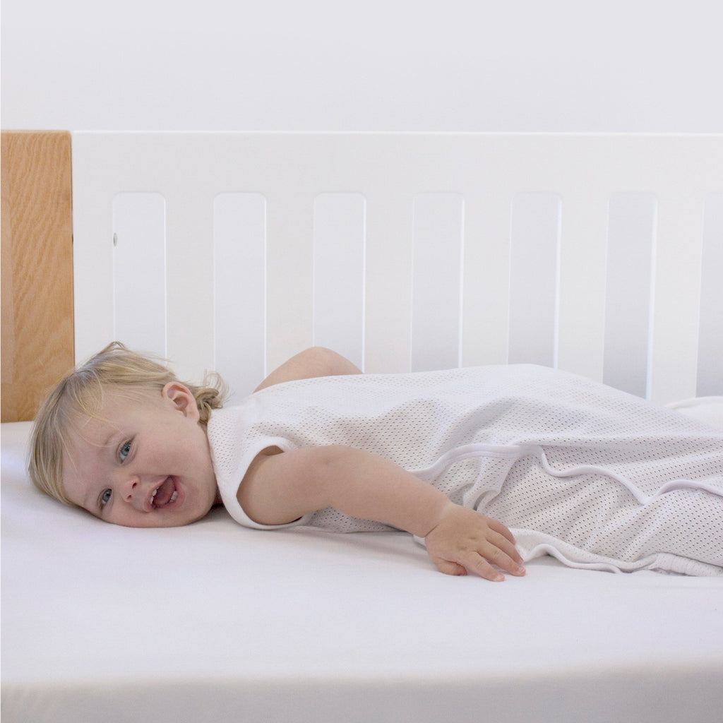 Bubba Blue Air+ Sleep Bag White | GOTS certified organic cotton