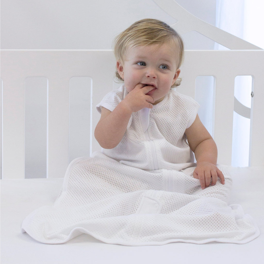 Air+ Sleep Bag White | GOTS certified organic cotton | Bubba Blue - Nurture Little Footprints