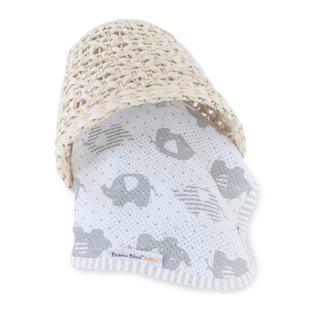 Bubba Blue Air+ Swaddle Wrap Petit Elephant | GOTS certified organic cotton - Little Bamboos