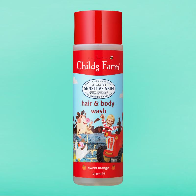 Hair & Body Wash, Sweet Orange 250ml | Childs Farm - Nurture Little Footprints