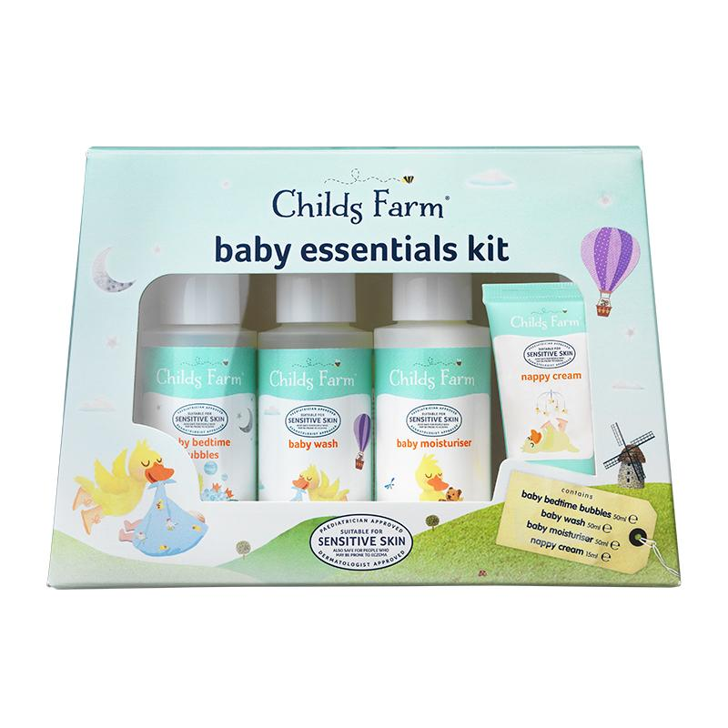 Childs Farm Baby Essentials Set contains 4 miniatures