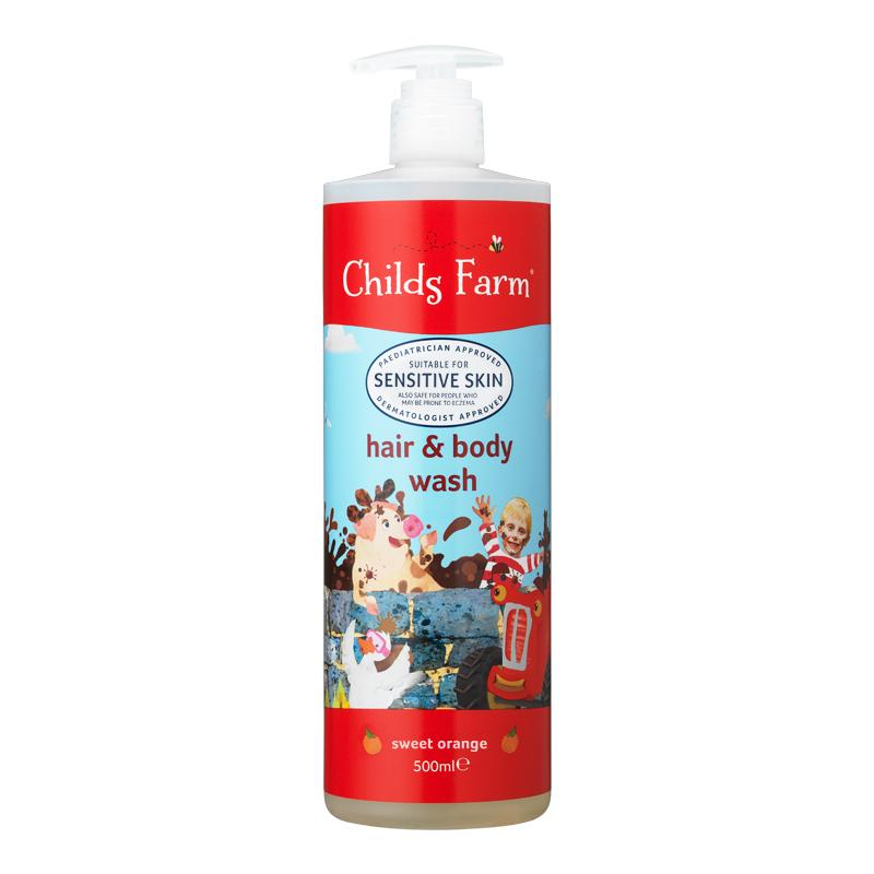 Hair & Body Wash Organic Sweet Orange 500ml | Childs Farm - Nurture Little Footprints