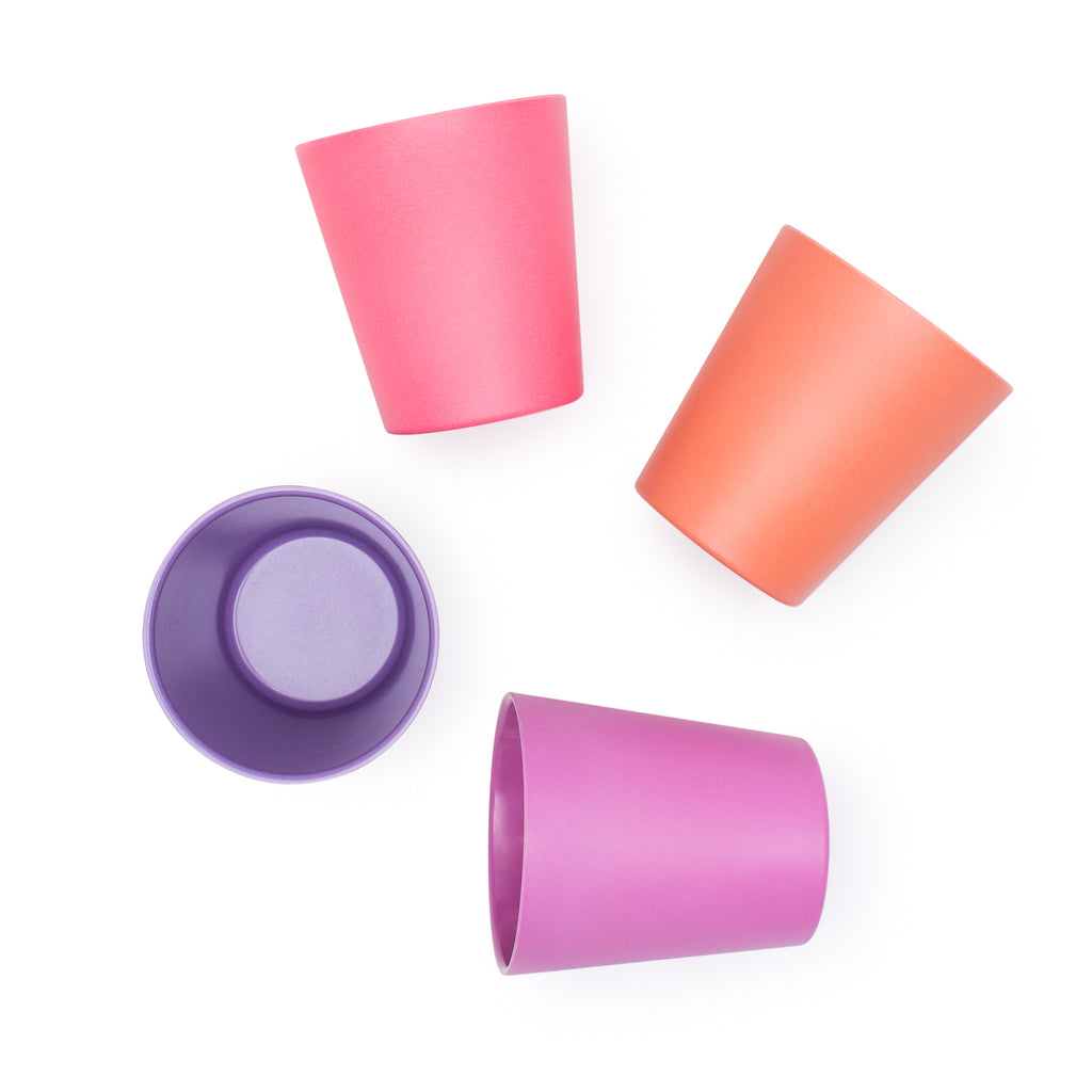Bamboo kids cup set - sunset | BPA & Toxin Free | Dishwasher Safe | bobo&boo - Nurture Little Footprints