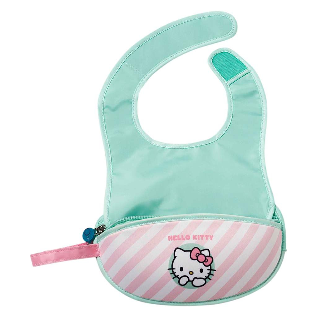 HELLO KITTY - TRAVEL BIB + SPOON CANDY FLOSS | B.Box - Nurture Little Footprints