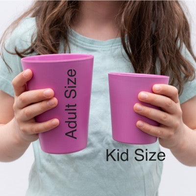 bobo&boo adult-sized bamboo cup set - sunset | BPA & Toxin Free | Dishwasher Safe