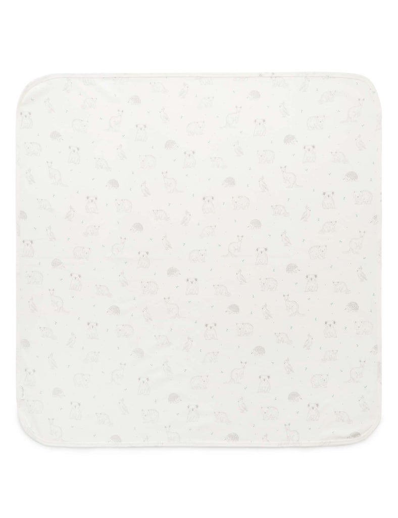 Purebaby | Bunny Rug | Australia Animal Prints | Pale Grey