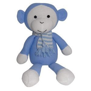 ES Kids | Knitted Blue Monkey | 40cm | Babies & Toddlers - Nurture Little Footprints