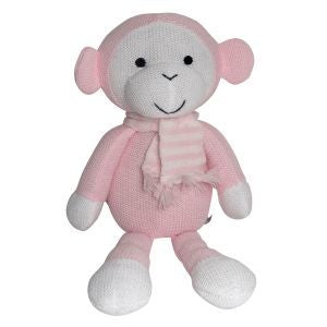 ES Kids | Knitted Pink Monkey | 40cm | Babies & Toddlers - Nurture Little Footprints