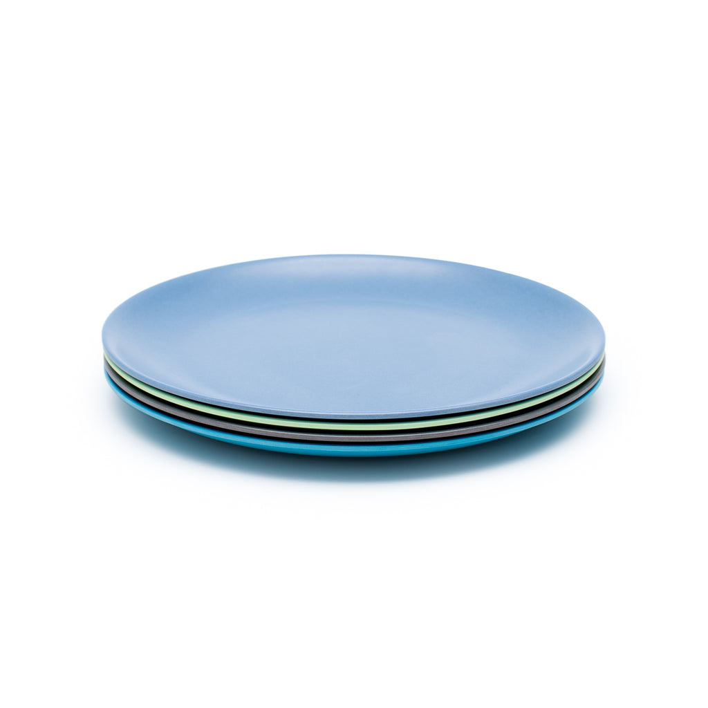 Bamboo kids plate set - coastal | BPA & Toxin Free | Dishwasher Safe | bobo&boo - Nurture Little Footprints