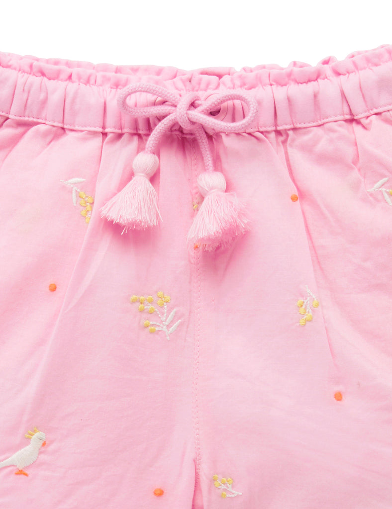 Cockatoo Shorts | Wattle Broderie | Purebaby - Nurture Little Footprints