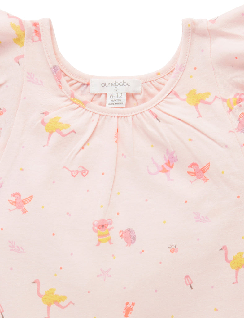 Purebaby | Bush Jamboree Top | Party Print