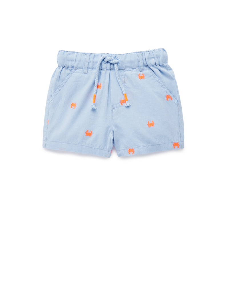 Hiking Shorts | Crab Broderie | Purebaby - Nurture Little Footprints