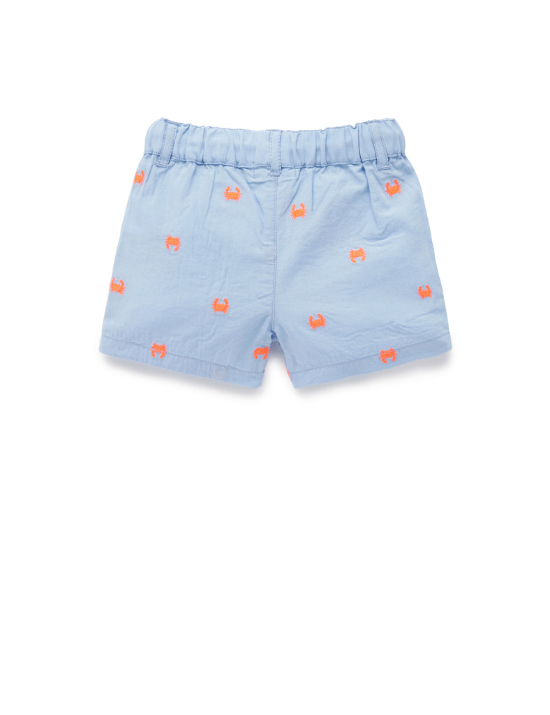 Purebaby | Hiking Shorts | Crab Broderie