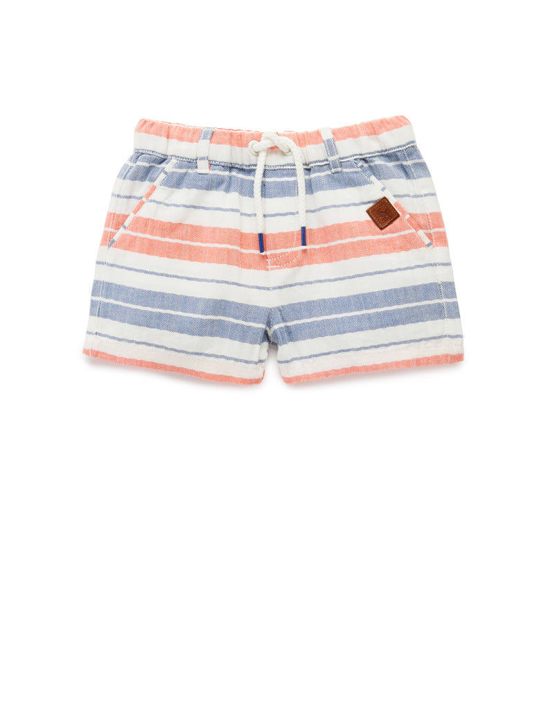BBQ Shorts | Herringbone Stripe | Purebaby - Nurture Little Footprints