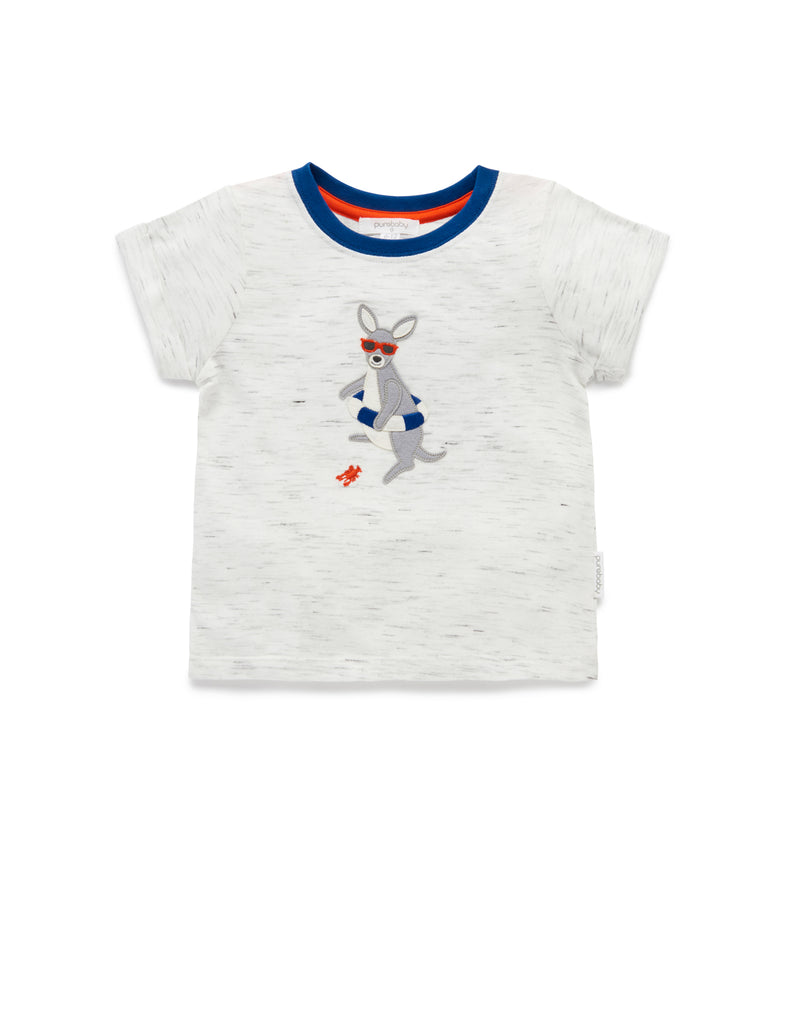 Floaty Ring Tee | Kangaroo | Purebaby - Nurture Little Footprints