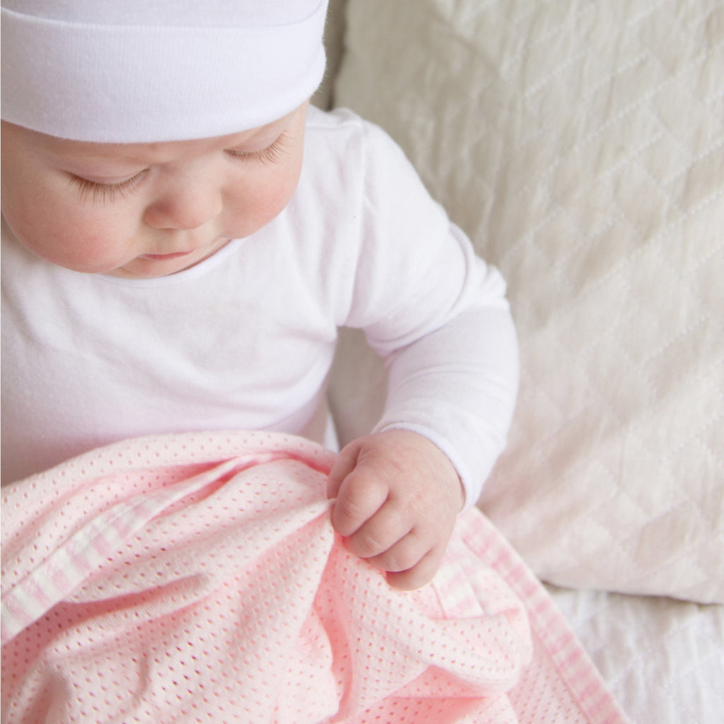 Bubba Blue Air+ Swaddle Wrap Pink | GOTS certified organic cotton