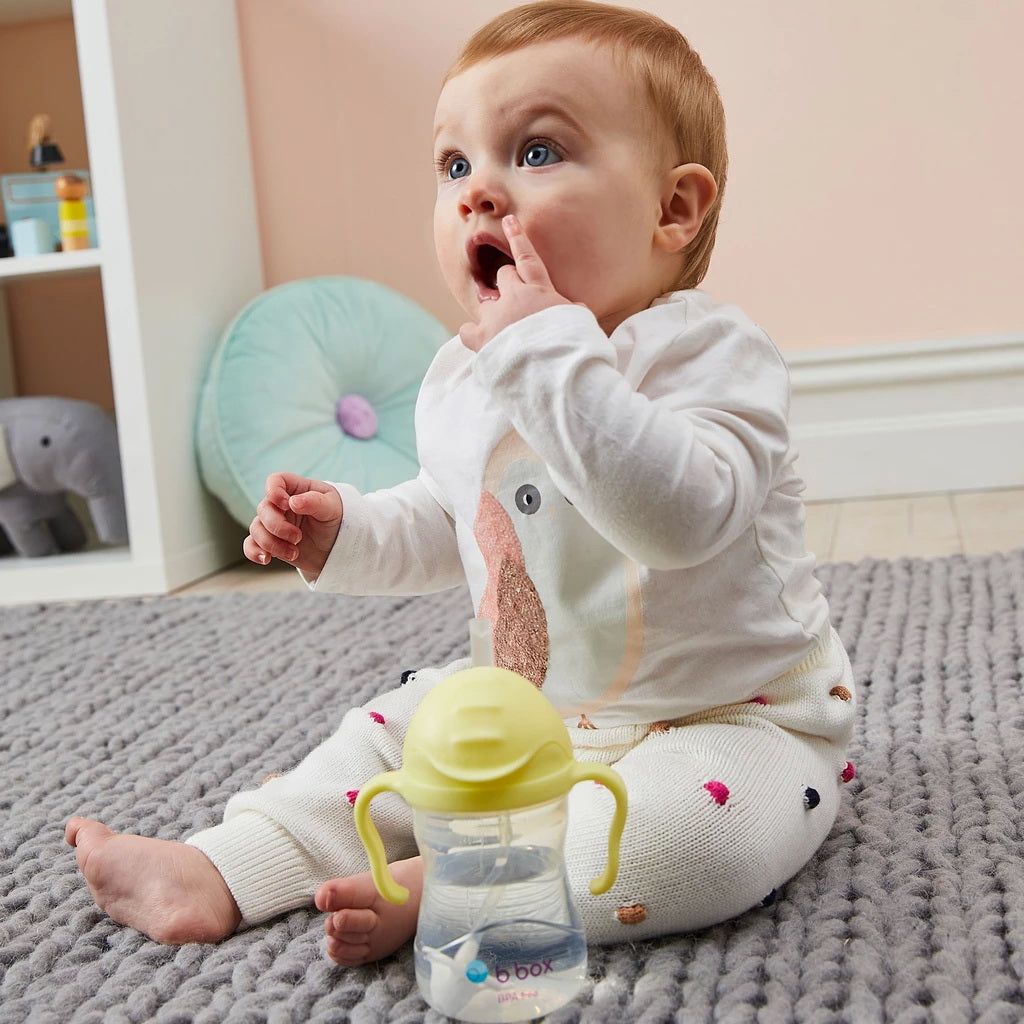 Baby drinking B.Box | SIPPY CUP - BANANA SPLIT