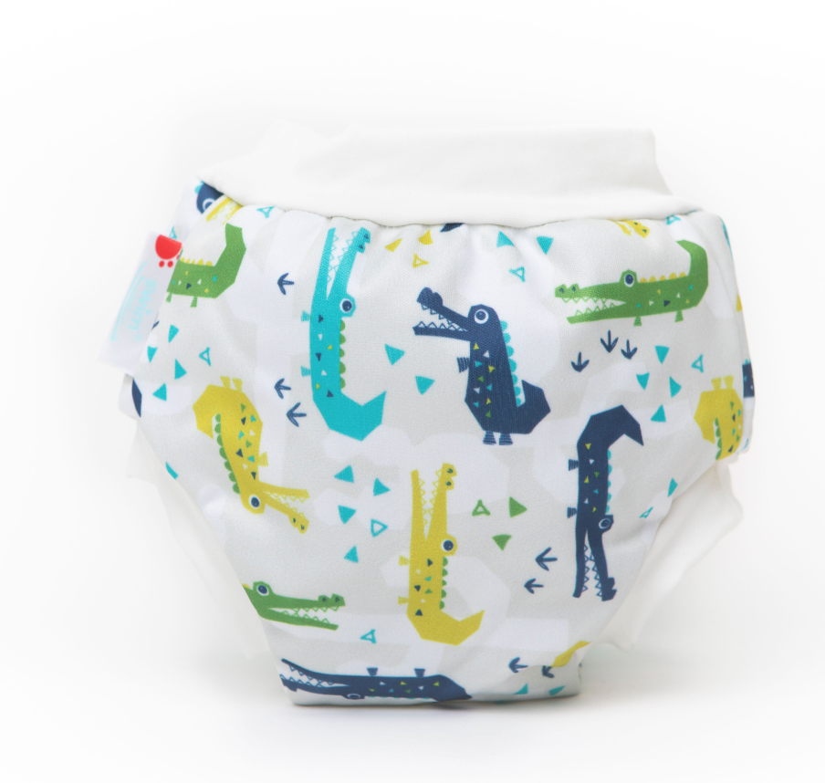 Bamboo Lined Swim Nappies | Cranky Crocs | Bambooty - Nurture Little Footprints