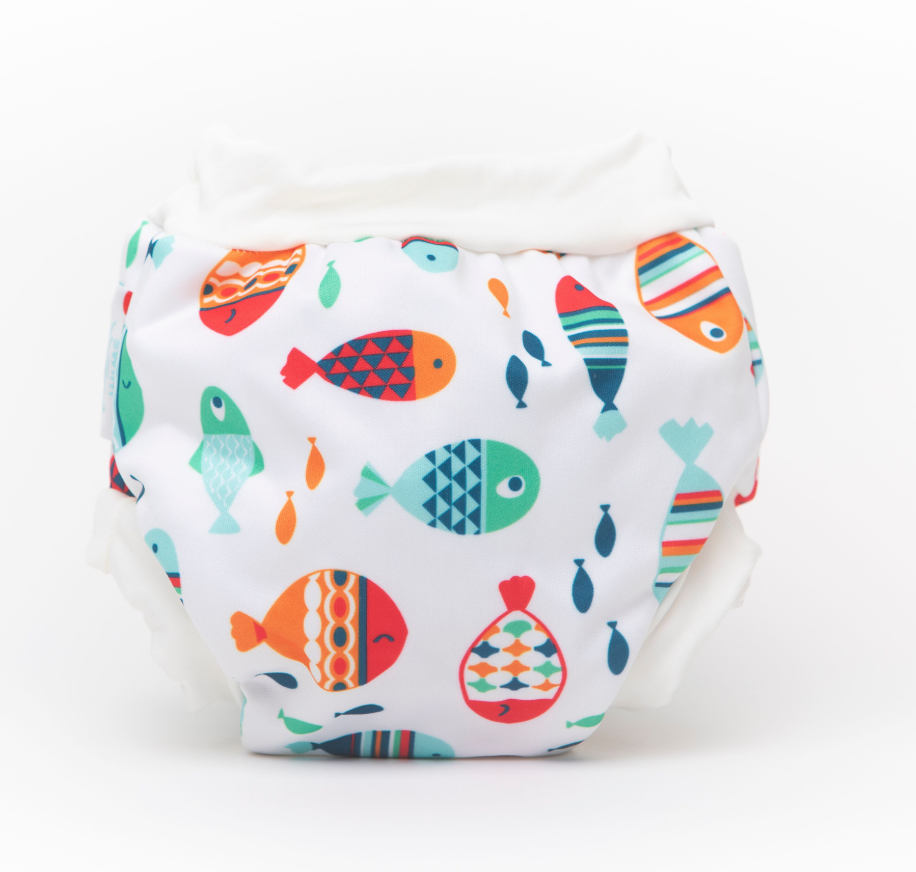 Bambooty | Bamboo Lined Swim Nappies | Fishies