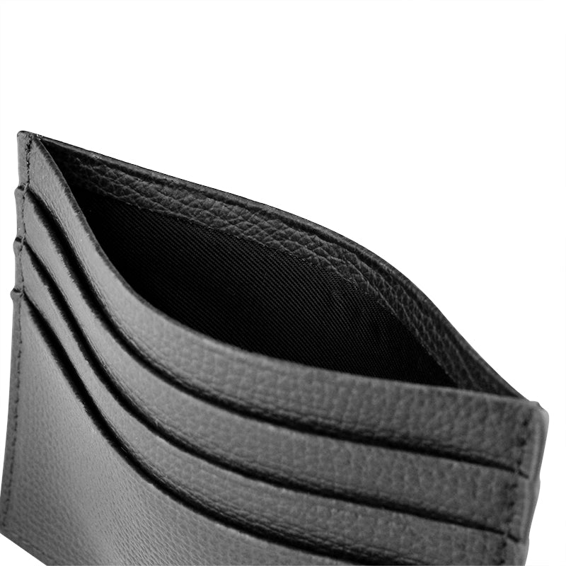AWARD 6CC CARD HOLDER > ITALIAN LEATHER BLACK