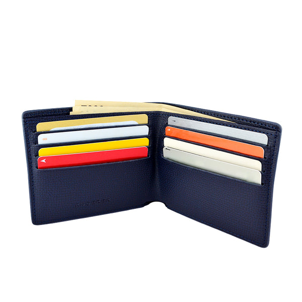 TROPHY 8CC BIFOLD > ITALIAN LEATHER BLACK