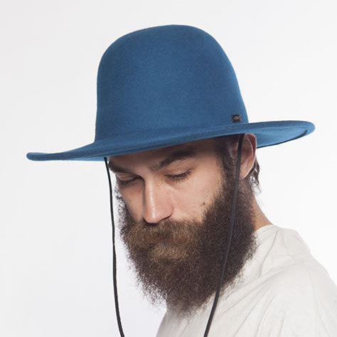 Celine Full Brim Wool Hat - Cobalt Blue