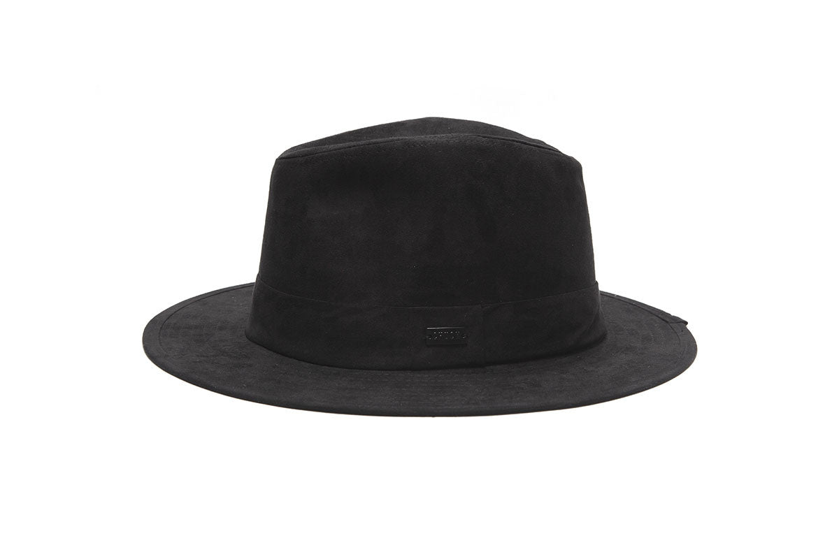 Malcolm Travel Crusher Fedora - Black