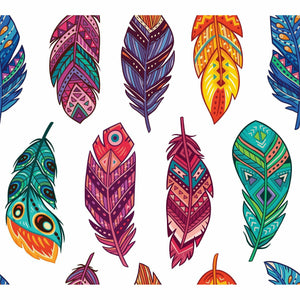Decoupage Rice Paper | Boho Feathers