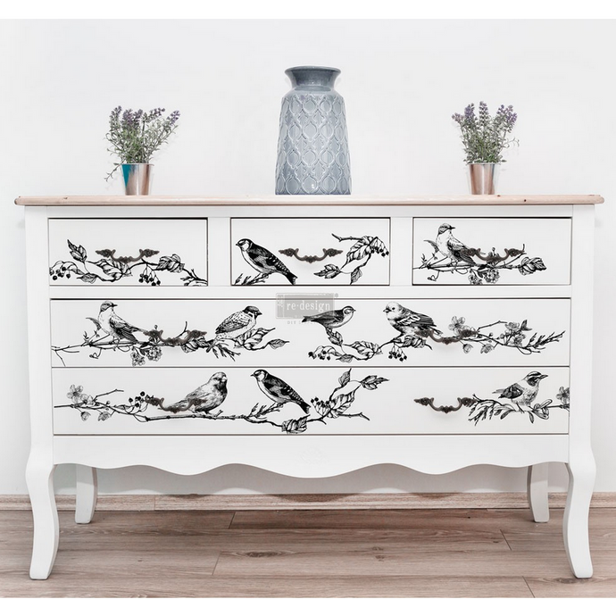 Furniture Decals - Birds and Berries 34 x 24 - Furniture