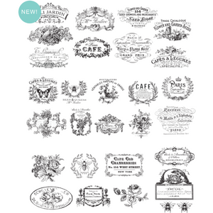 Furniture Decals - Classic Vintage Labels 24 x 30 -