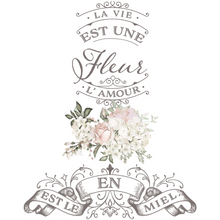 Load image into Gallery viewer, Furniture Decals - La Vie Est Une Fleur 17 x 27 - Furniture