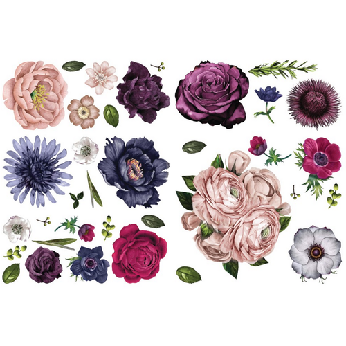 Furniture Decals Lush Floral II by ReDesign with Prima
