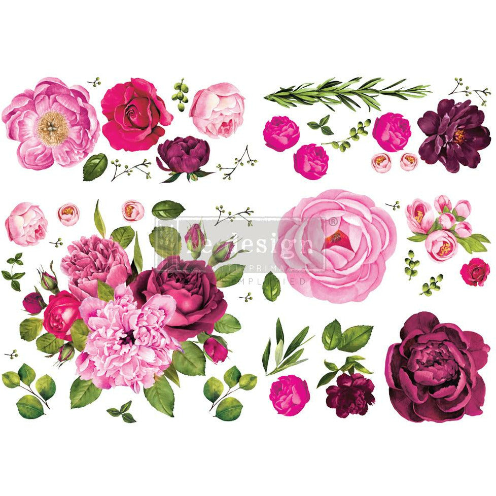 Dark pink flower. Medium pink flowers. Bright pink flowers. All sizes and types. Roses. Carnations. Peonies. And more.