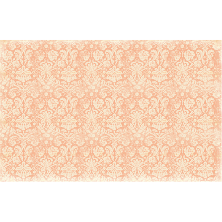 This decoupage paper by ReDesign with Prima has a light peach damask design over a dark peach background.