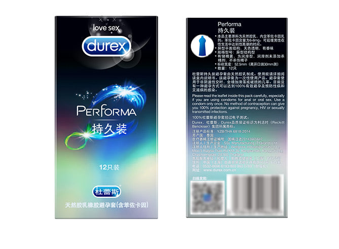 Durex Condoms of Men Protracted Safe Delay Penis Sleeve Long Lasting Natural Latex Lubricated Condom Contraception Sex Products
