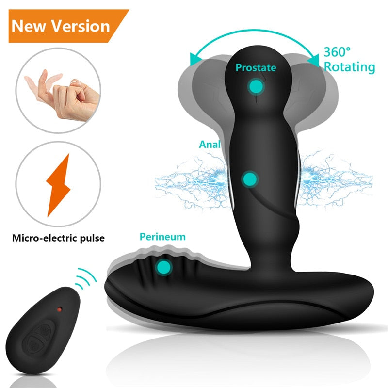 Vibrating Prostate Massager Men Anal Plug Waterproof with Powerful Motors 10 Stimulation Patterns Butt Anus Silicone Sex Toys